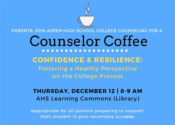 Dec. 12 Counselor Coffee