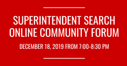 Online Community Forum - Superintendent Search